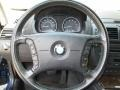 2005 BMW X3 Black Interior Steering Wheel Photo