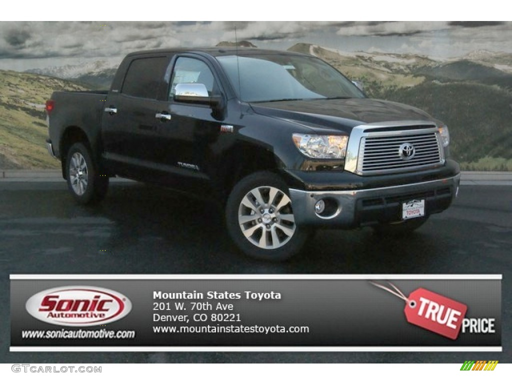 2013 Tundra Platinum CrewMax 4x4 - Black / Black photo #1