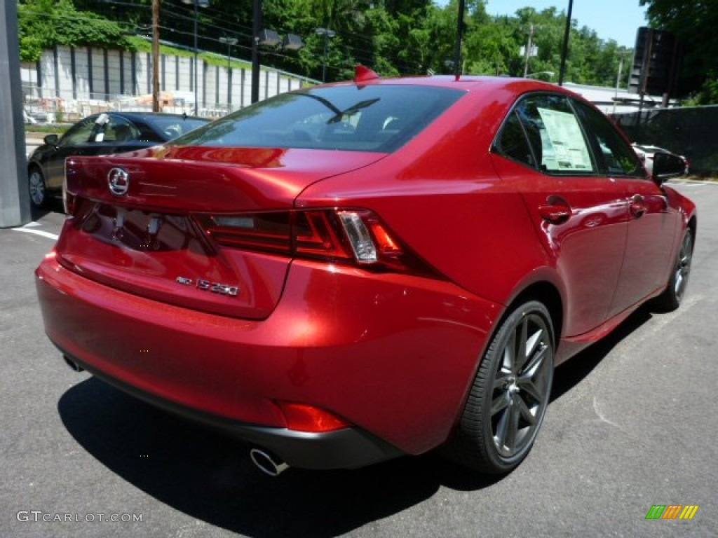 2014 IS 250 F Sport AWD   Matador Red Mica / Black Photo #4