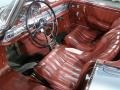 1958 Mercedes-Benz 300SL Roadster, Silver Blue / Burgundy, Interior