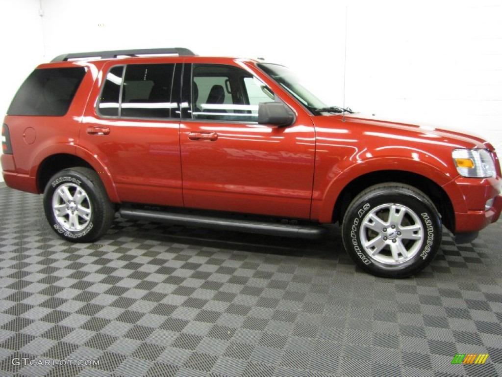 toreador red metallic 2000 ford explorer xlt 4x4 exterior. Black Bedroom Furniture Sets. Home Design Ideas