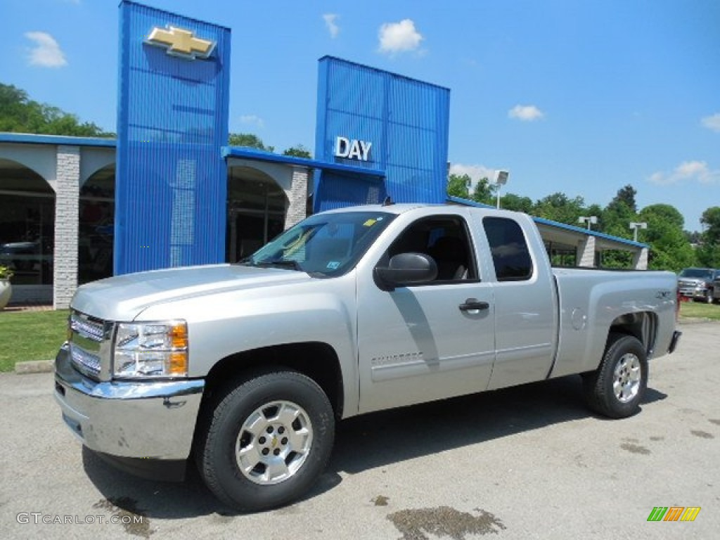 2013 Silverado 1500 LT Extended Cab 4x4 - Silver Ice Metallic / Ebony photo #1