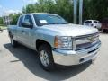 2013 Silver Ice Metallic Chevrolet Silverado 1500 LT Extended Cab 4x4  photo #10