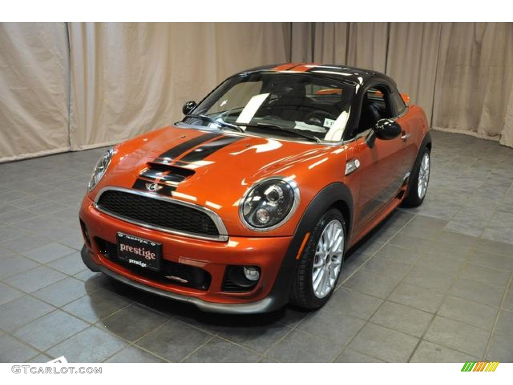 2012 spice orange metallic mini cooper john cooper works coupe 82553714 car. Black Bedroom Furniture Sets. Home Design Ideas