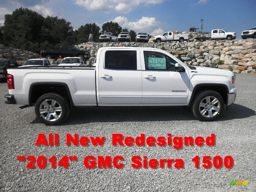 2014 summit white gmc sierra 1500 sle crew cab 4x4 82554362 car color galleries. Black Bedroom Furniture Sets. Home Design Ideas