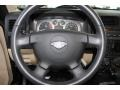 Light Cashmere/Ebony Steering Wheel Photo for 2009 Hummer H3 #82609223