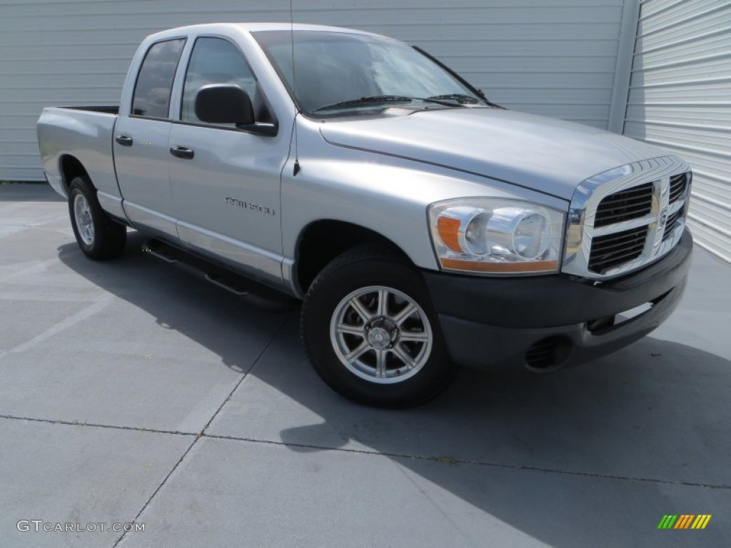 2006 Ram 1500 Laramie Quad Cab - Bright Silver Metallic / Medium Slate Gray photo #1