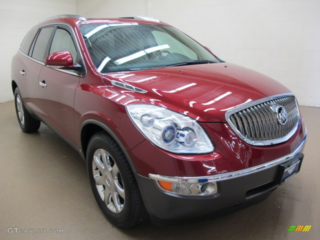2009 Enclave CXL AWD - Red Jewel Tintcoat / Cocoa/Cashmere photo #1