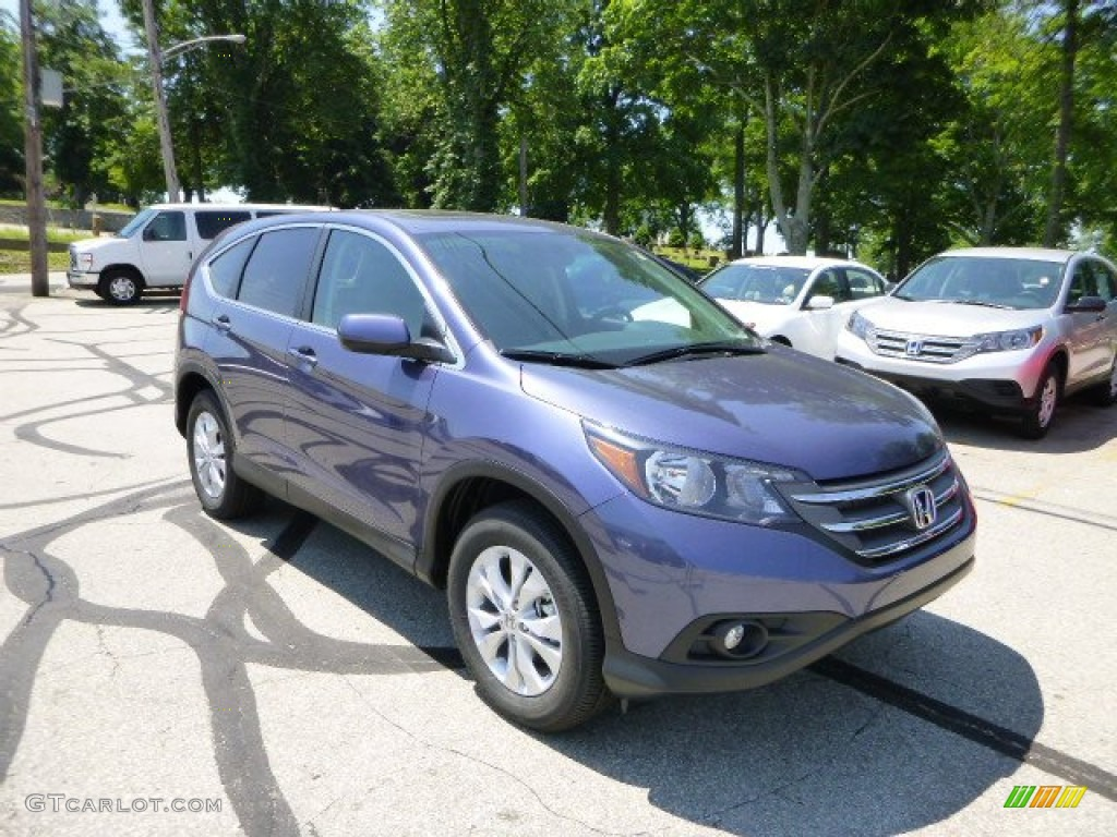2013 CR-V EX AWD - Twilight Blue Metallic / Gray photo #1