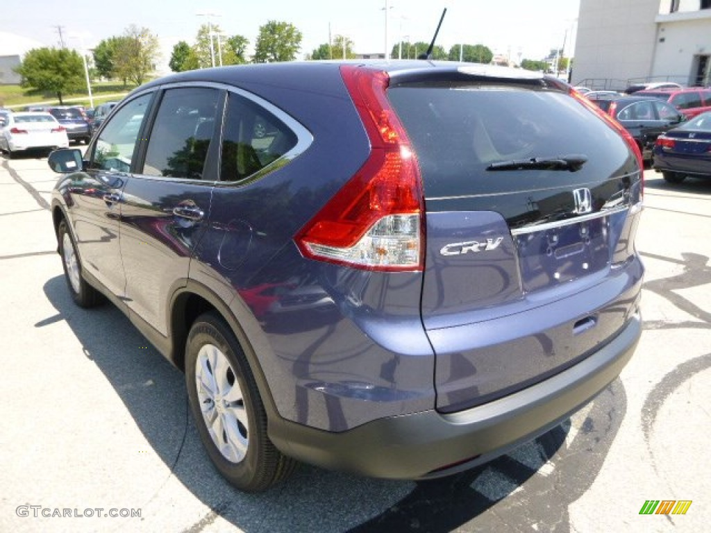 2013 CR-V EX AWD - Twilight Blue Metallic / Gray photo #5