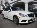 Arctic White 2010 Mercedes-Benz E 550 Sedan