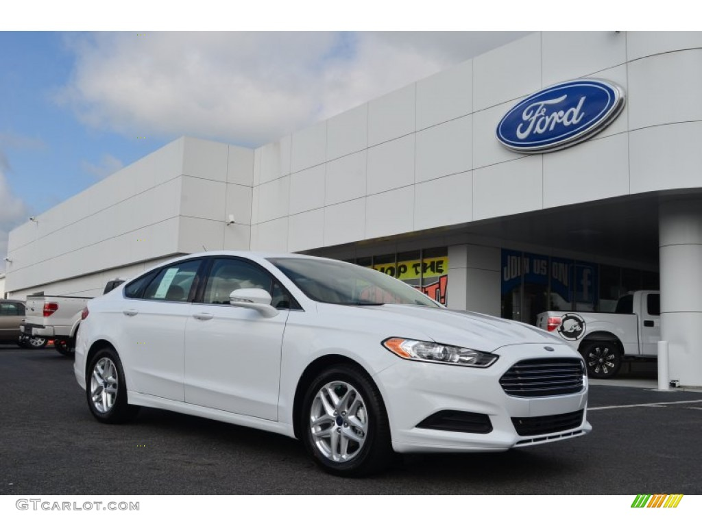 2013 Fusion SE 1.6 EcoBoost - Oxford White / Dune photo #1