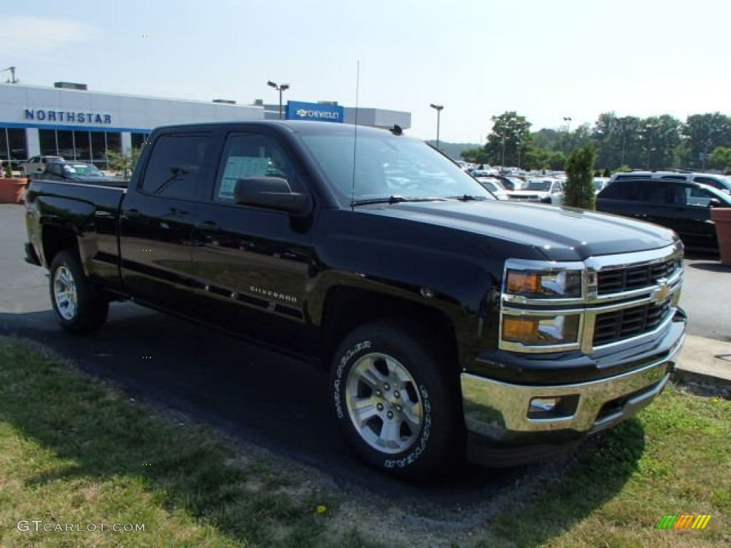 2014 black chevrolet silverado 1500 lt z71 crew cab 4x4 82638465 photo 2 car. Black Bedroom Furniture Sets. Home Design Ideas