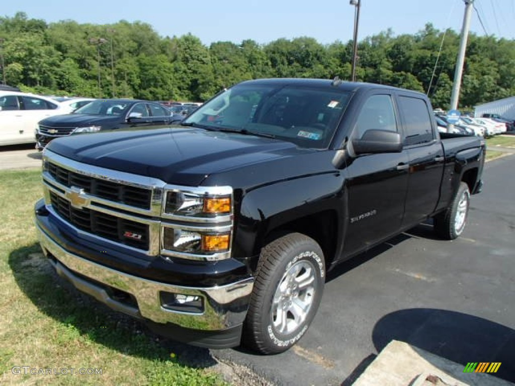 2014 black chevrolet silverado 1500 lt z71 crew cab 4x4 82638465 photo 4 car. Black Bedroom Furniture Sets. Home Design Ideas