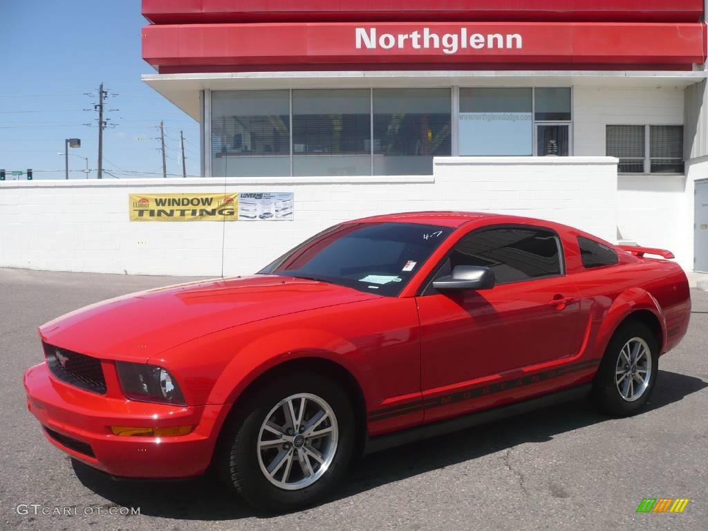 2005 Mustang V6 Premium Coupe Torch Red Dark Charcoal Photo 1