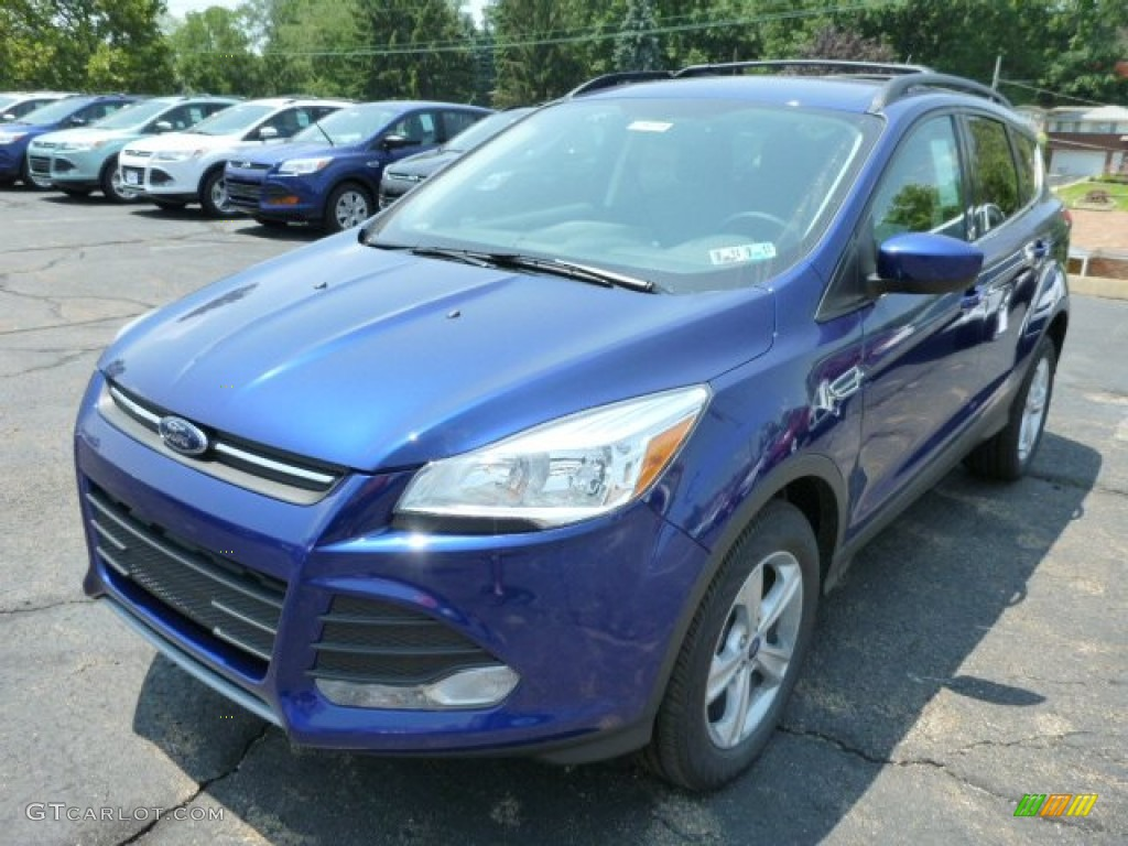 2014 Escape SE 2.0L EcoBoost 4WD - Deep Impact Blue / Charcoal Black photo #5