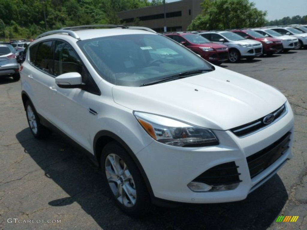 2014 Escape Titanium 1.6L EcoBoost 4WD - White Platinum / Charcoal Black photo #1