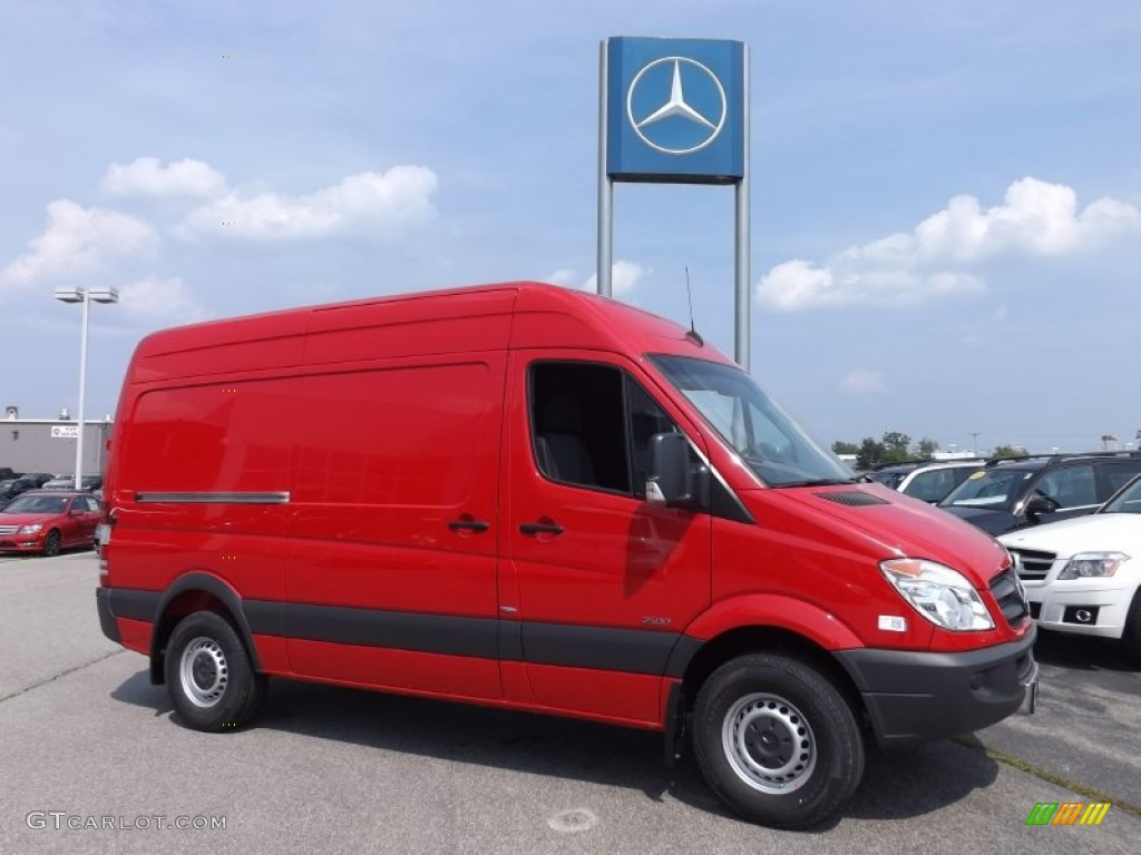 Hibiscus red 2013 mercedes benz sprinter 2500 high roof for 2013 mercedes benz sprinter