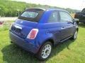 Azzurro (Blue) 2012 Fiat 500 c cabrio Pop Exterior