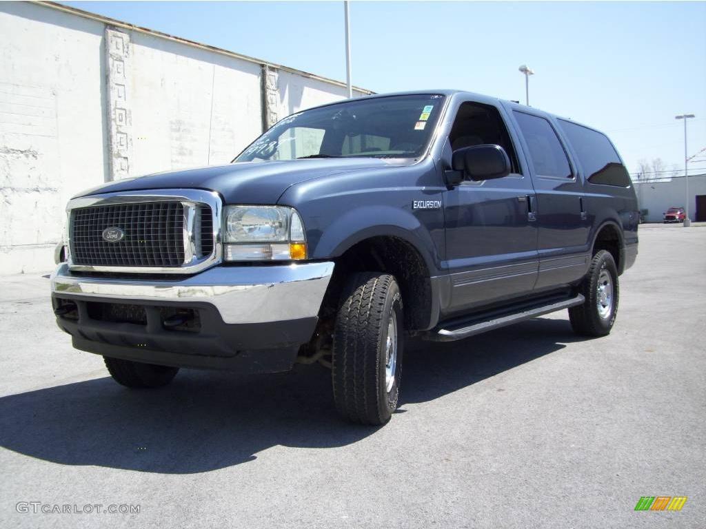 2002 True Blue Metallic Ford Excursion Xlt 4x4 8184724