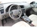 Pistachio Beige 2013 Audi Q5 Interiors
