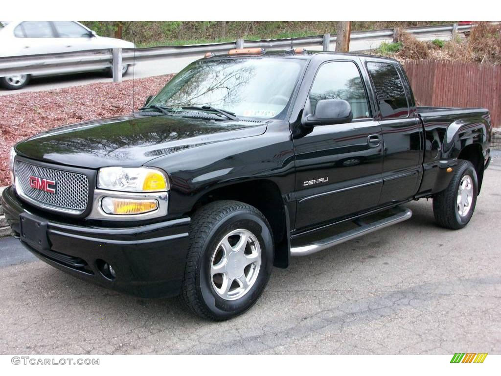 2004 onyx black gmc sierra 1500 denali extended cab awd. Black Bedroom Furniture Sets. Home Design Ideas