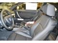 2013 BMW 1 Series Black Interior Front Seat Photo