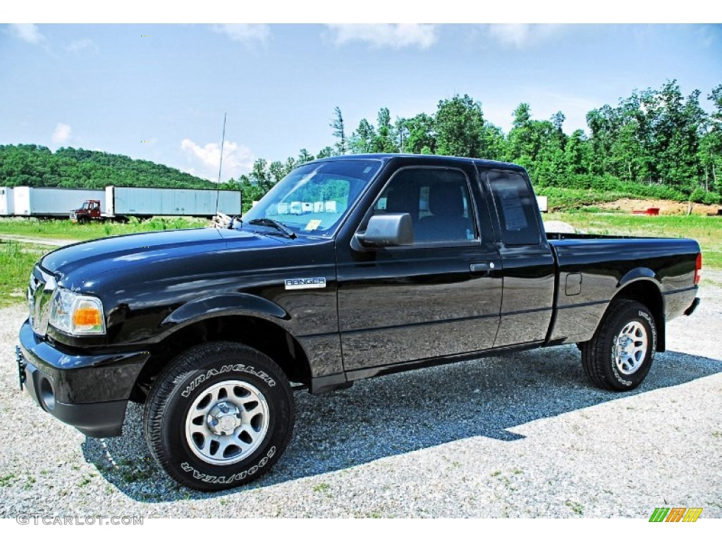black 2011 ford ranger xlt supercab 4x4 exterior photo. Black Bedroom Furniture Sets. Home Design Ideas