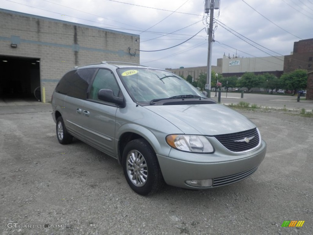 satin jade pearl 2003 chrysler town country limited awd. Black Bedroom Furniture Sets. Home Design Ideas