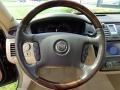 2008 Cadillac DTS Cashmere/Cocoa Interior Steering Wheel Photo