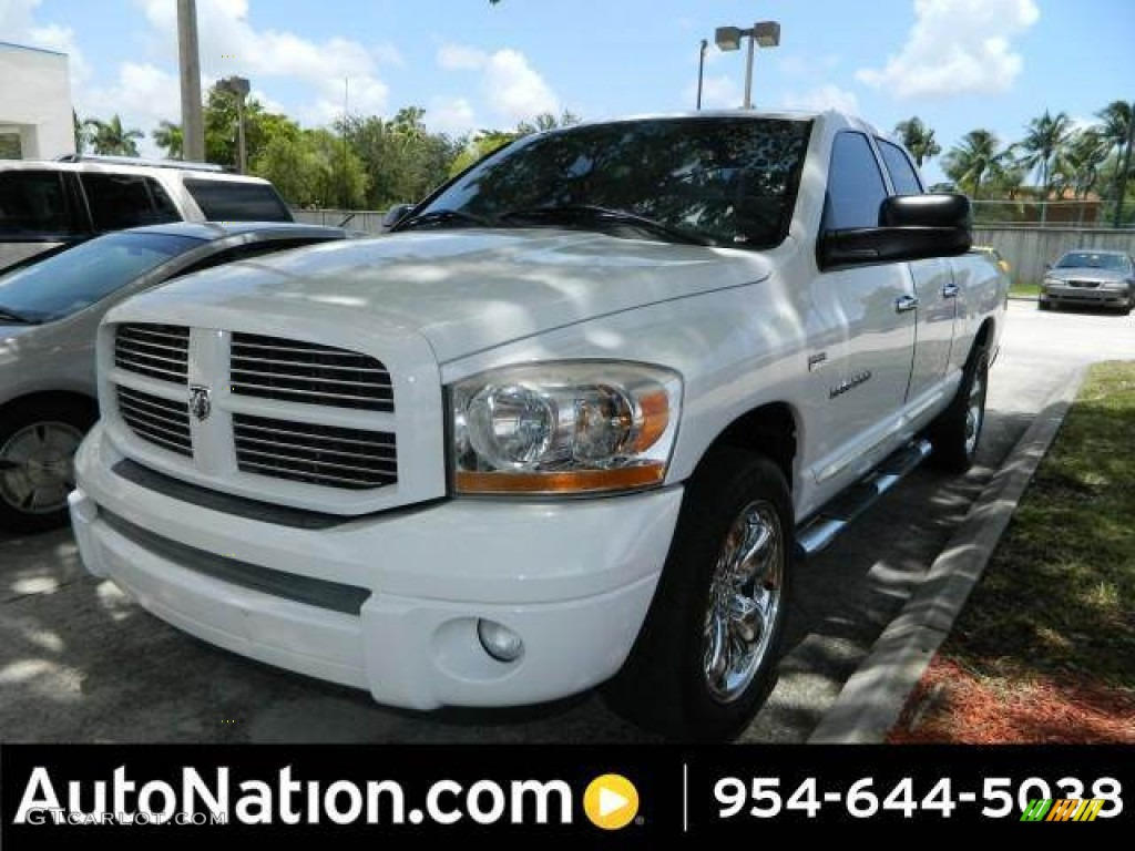 2006 Ram 1500 Sport Quad Cab - Bright White / Medium Slate Gray photo #1