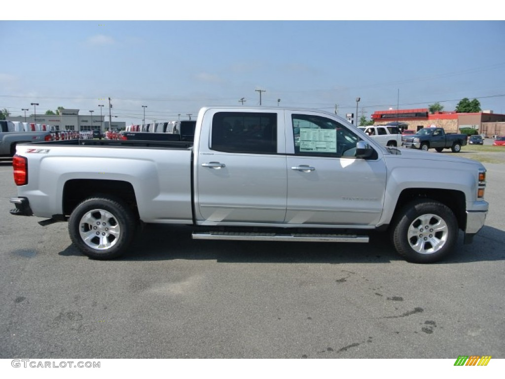 silver ice metallic 2014 chevrolet silverado 1500 ltz z71 crew cab 4x4 exterior photo 82761336. Black Bedroom Furniture Sets. Home Design Ideas