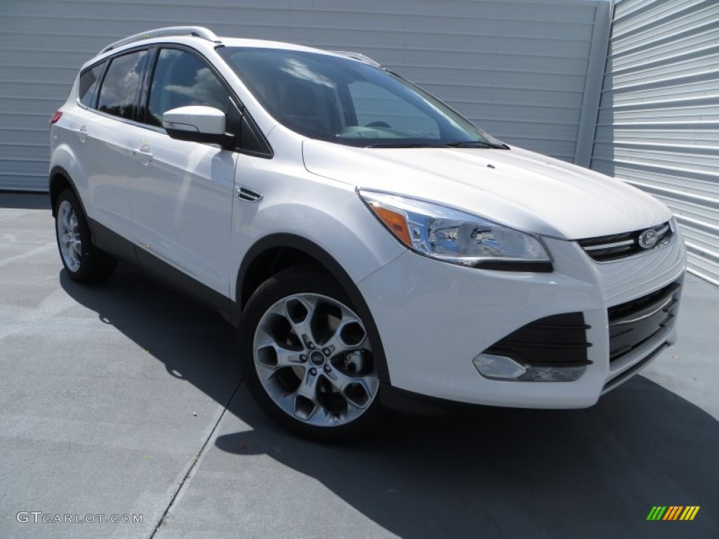2014 Escape Titanium 2.0L EcoBoost - White Platinum / Charcoal Black photo #1