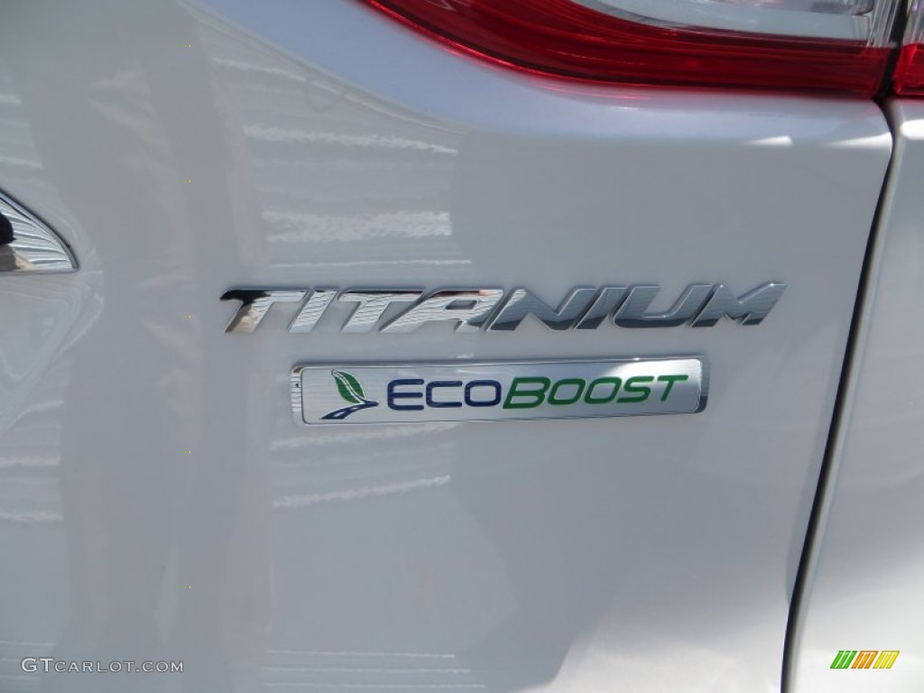 2014 Escape Titanium 2.0L EcoBoost - White Platinum / Charcoal Black photo #14
