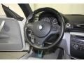 2010 BMW 1 Series Gray Boston Leather Interior Steering Wheel Photo