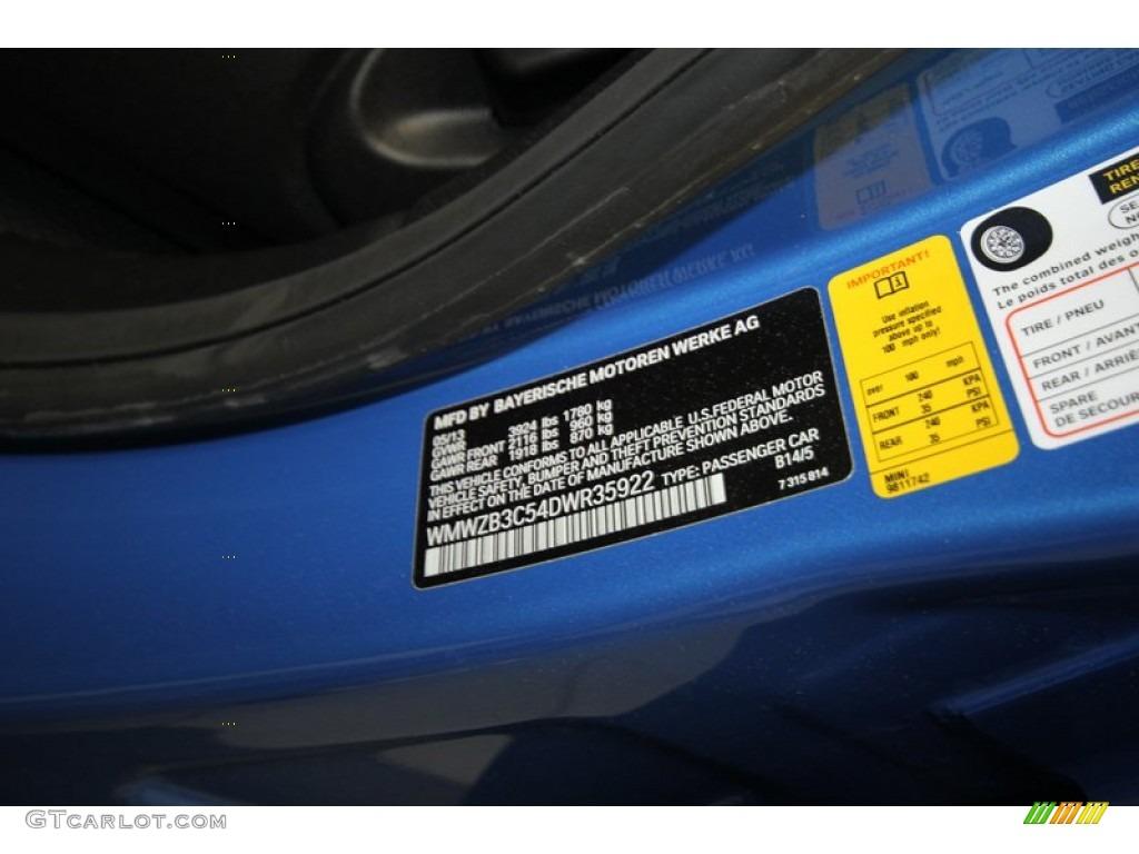 2013 Cooper Color Code B14 For True Blue Metallic Photo 82789483
