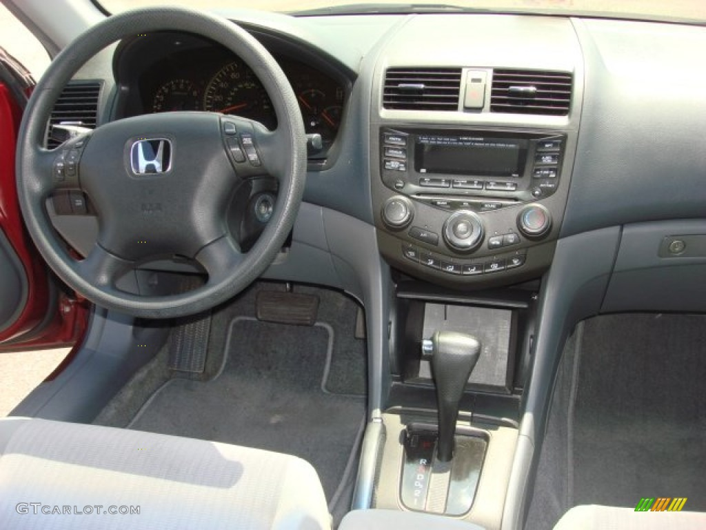 2004 Accord LX V6 Sedan   Redondo Red Pearl / Gray Photo #12