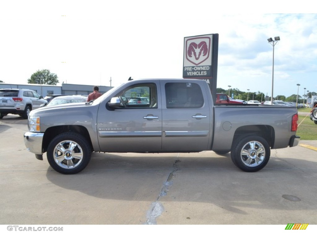 2012 Silverado 1500 LT Crew Cab - Graystone Metallic / Light Titanium/Dark Titanium photo #2