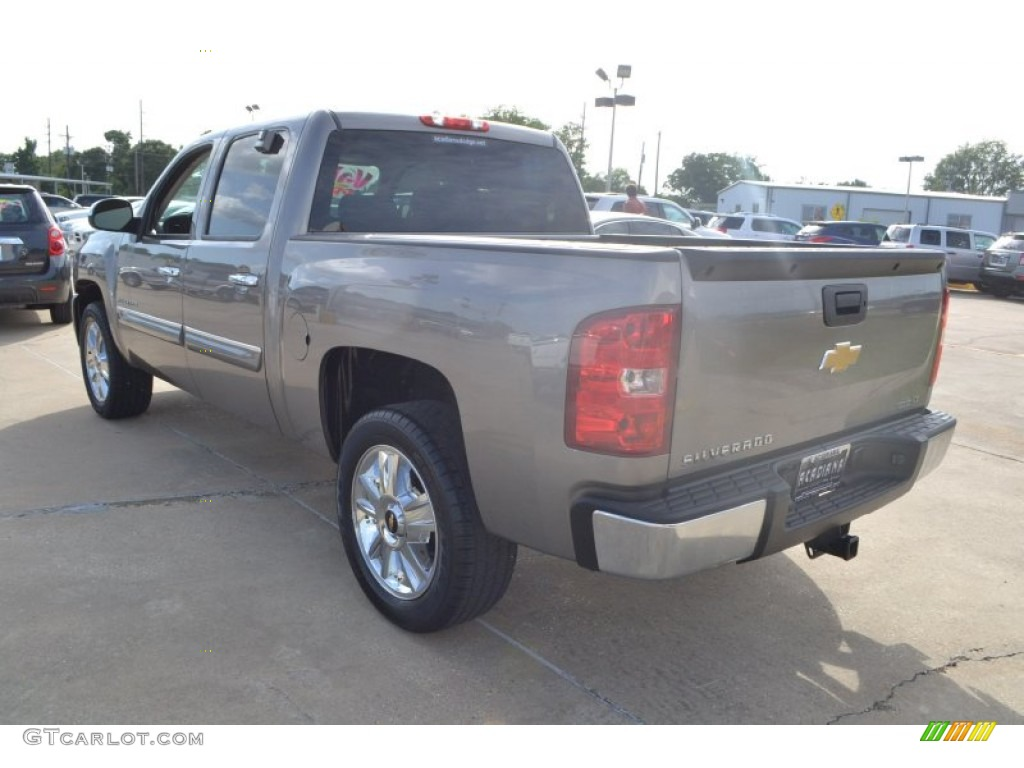 2012 Silverado 1500 LT Crew Cab - Graystone Metallic / Light Titanium/Dark Titanium photo #3