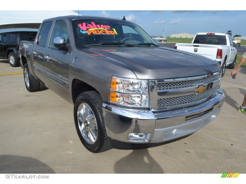 2012 Silverado 1500 LT Crew Cab - Graystone Metallic / Light Titanium/Dark Titanium photo #10