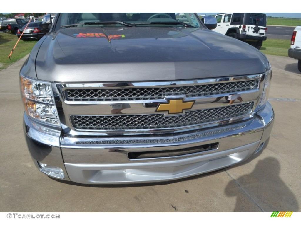 2012 Silverado 1500 LT Crew Cab - Graystone Metallic / Light Titanium/Dark Titanium photo #11