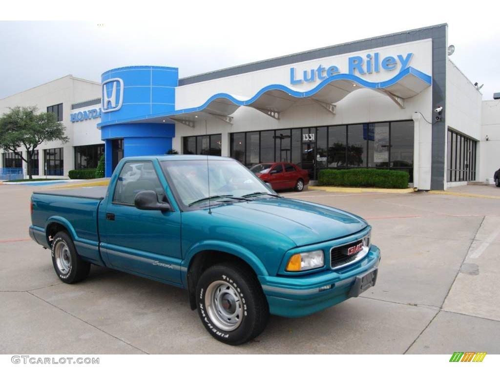 1996 Bright Teal Metallic Gmc Sonoma Sls Regular Cab 8238984 Gtcarlot Com Car Color Galleries