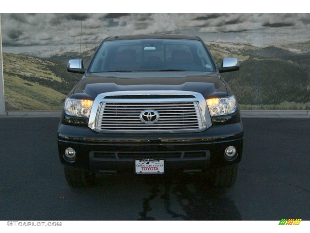 2013 Tundra Limited Double Cab 4x4 - Black / Red Rock photo #3