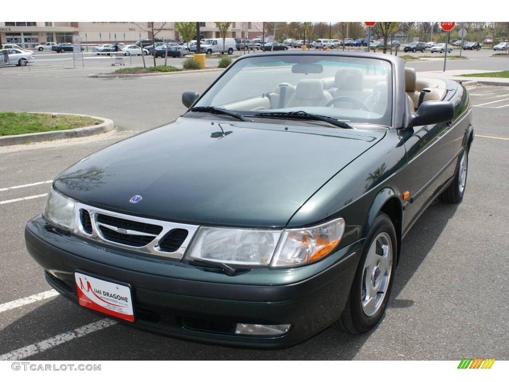 1999 scarabe green metallic saab 9 3 convertible 8254661 car color galleries. Black Bedroom Furniture Sets. Home Design Ideas