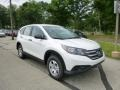 2013 White Diamond Pearl Honda CR-V LX AWD  photo #1