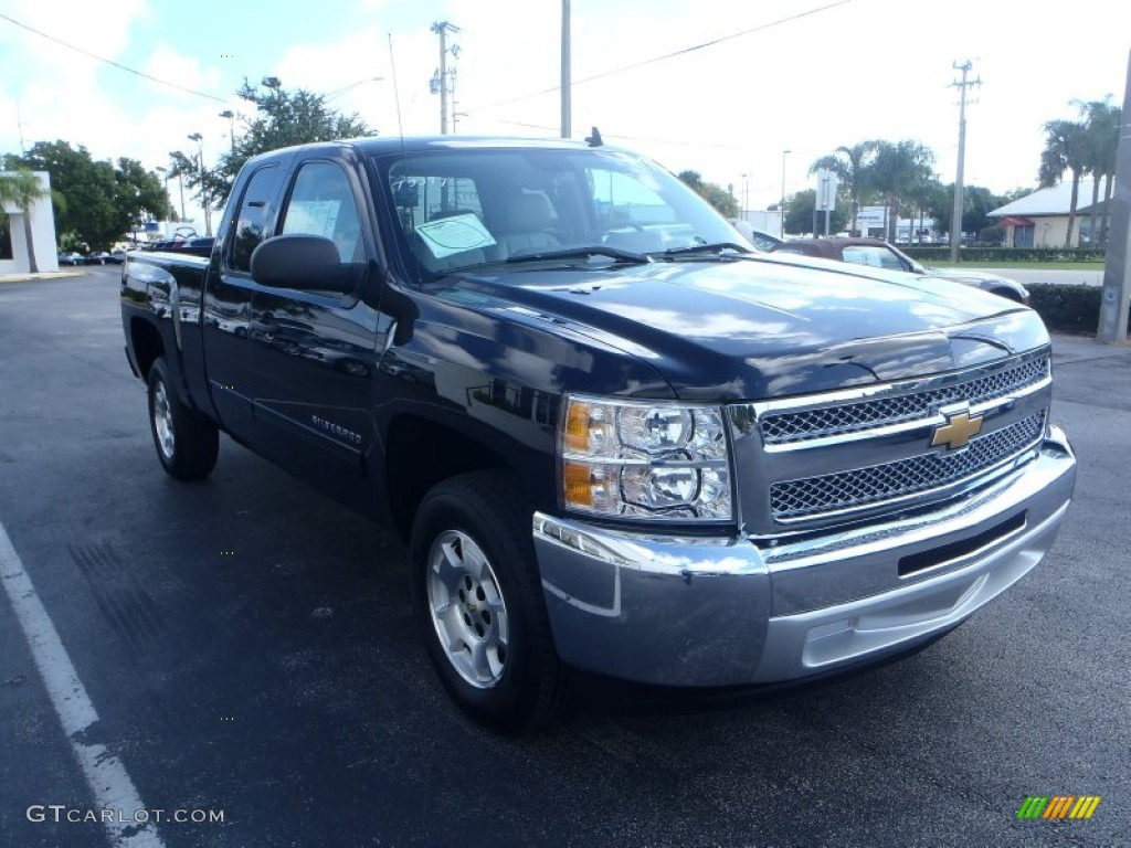 2013 Silverado 1500 LT Extended Cab - Black / Light Titanium/Dark Titanium photo #1