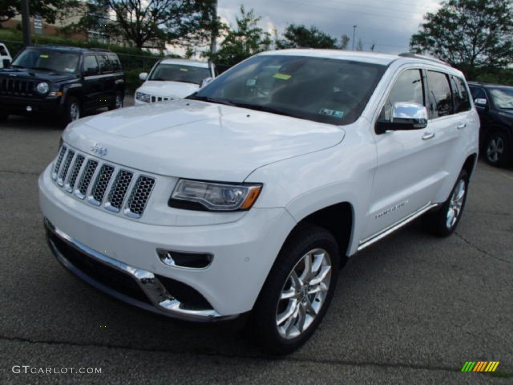 bright white 2014 jeep grand cherokee summit 4x4 exterior photo 82859318. Black Bedroom Furniture Sets. Home Design Ideas