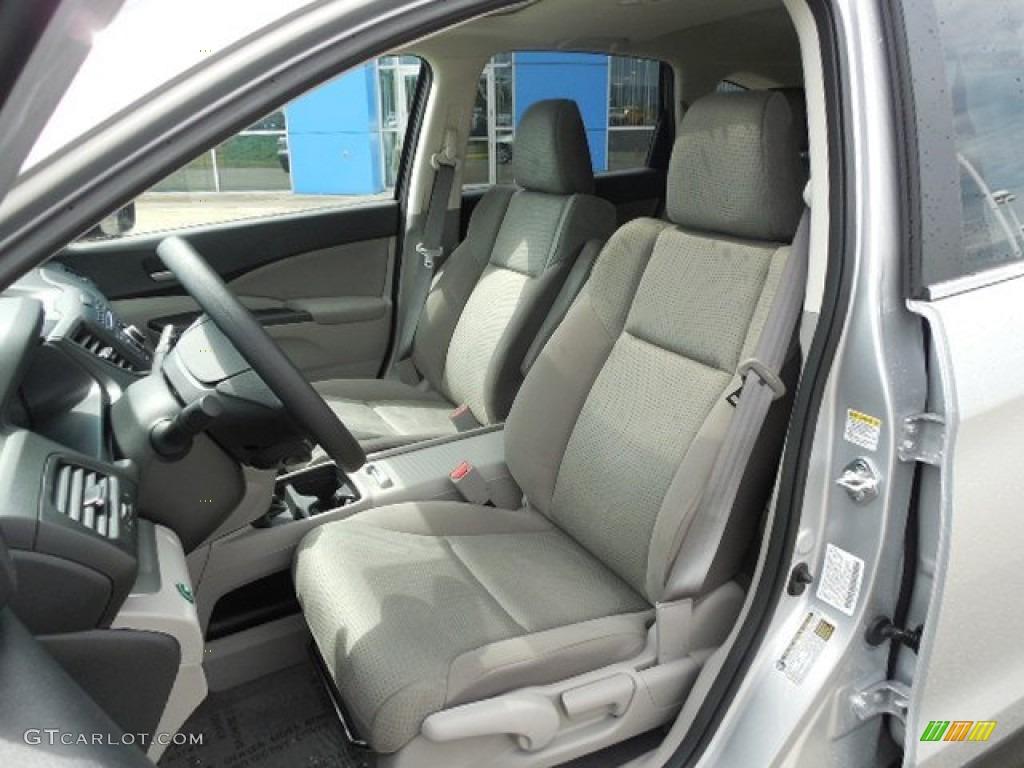 2013 CR-V EX AWD - Alabaster Silver Metallic / Gray photo #7