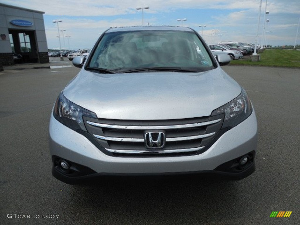 2013 CR-V EX AWD - Alabaster Silver Metallic / Gray photo #19