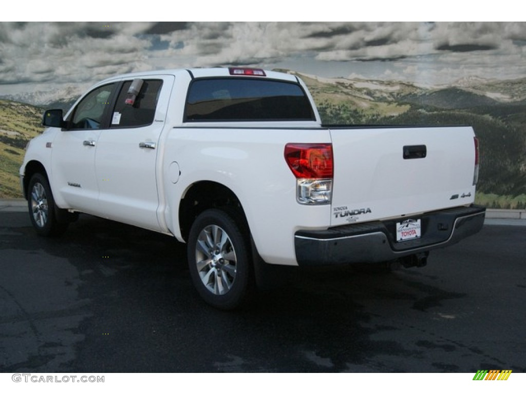 2013 Tundra Platinum CrewMax 4x4 - Super White / Black photo #2